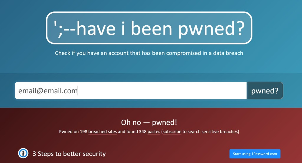 Check whether your private information has been leaked in a data breach